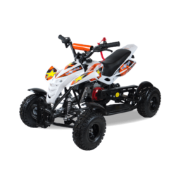Детский квадроцикл бензиновый MOTAX ATV H4 mini-50 cc Бело-Оранжевый (до 45 км/ч)