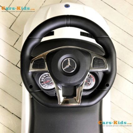 Толокар Mercedes-Benz GLE63 AMG с ручкой синий (мелодии, поворот с ручки, подножки)