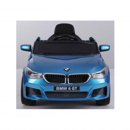 Электромобиль BMW 6 GT JJ2164 синий (колеса резина, кресло кожа, пульт, музыка)